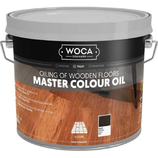 WOCA Meister Colour Öl Schwarz Nr. 120, Inhalt: 2,5 Liter