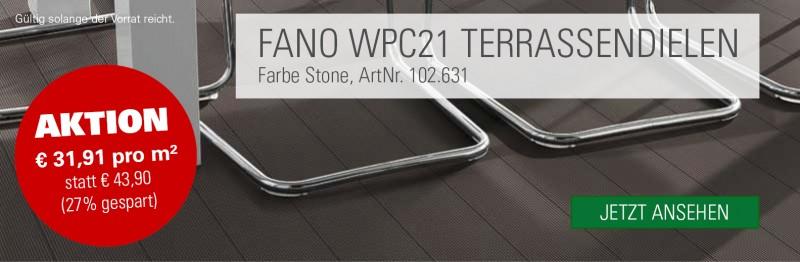 WPC Terrassendielen FANO - Terrassenboden stein preis
