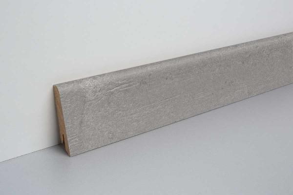 Laminat Sockelleiste foliert mit MDF-Kern Wighton Beton grau 17x60x2400mm