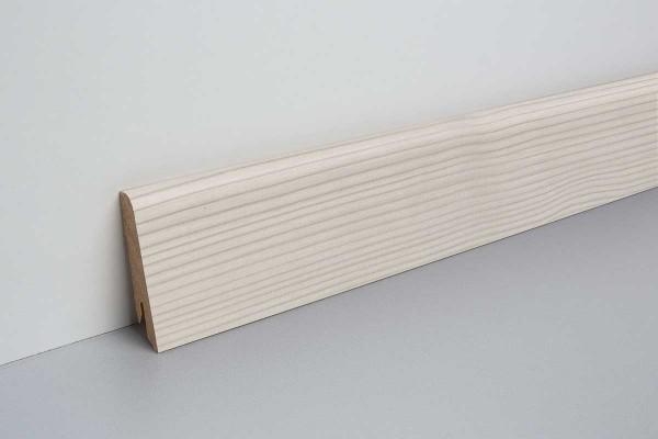 Laminat Sockelleiste foliert mit MDF-Kern Inverey Pinie weiss 17x60x2400mm