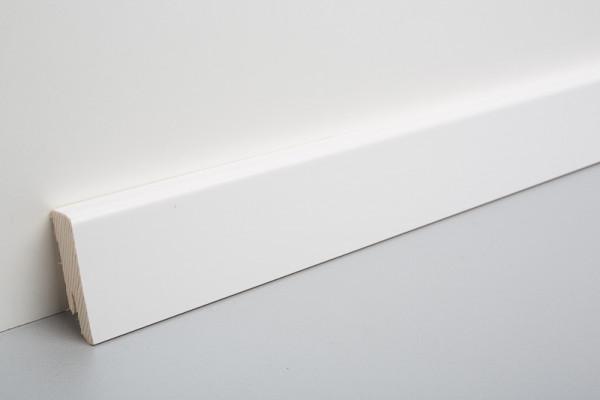 Sockelleiste furniert MKF 60 Weiß deckend lackiert 16x60x2500mm