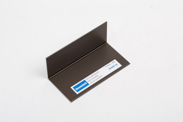 L-Profil aus Aluminium braunmetallic