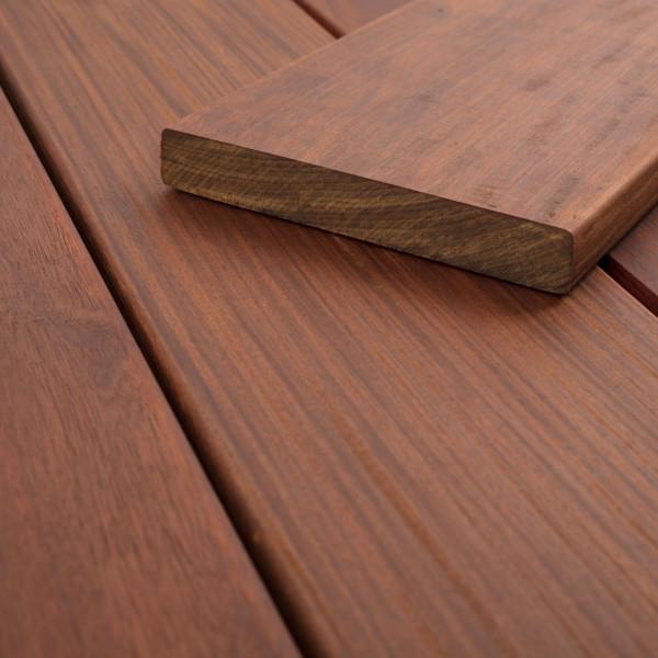 FANO Holz Terrassendiele Ipe, Teak-farbgeoelt, glatt 1830 bis 2740 mm