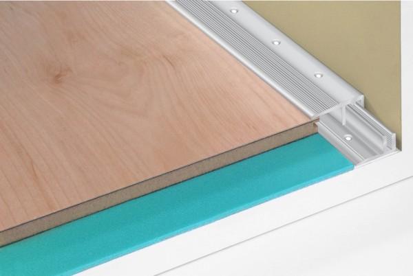 Bodenprofil Abschluss 6-16 mm silberfarben