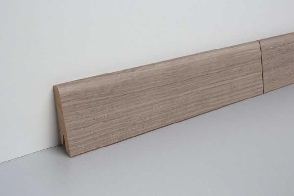 Laminat Sockelleiste foliert mit MDF-Kern Edington Eiche dunkel 17x60x2400mm