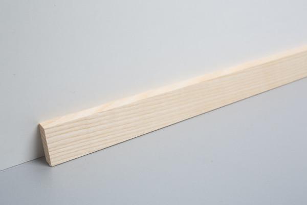 Sockelleiste massiv MSM 20 Esche lackiert Objekt, fallende Längen von 1.8 - 3.0 m