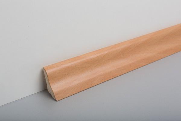 Bodenleiste furniert MHF 40 Buche gedämpft lackiert