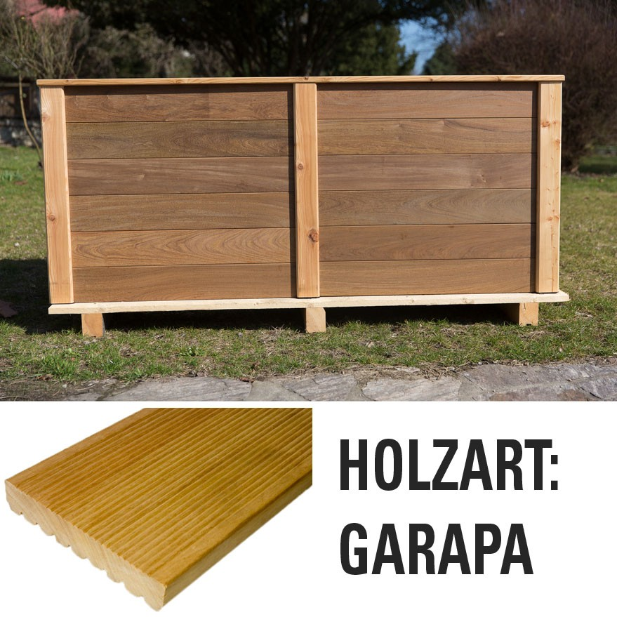 hochbeet garapa bausatz holz bausatz hochbeete garten meyer parkett online shop. Black Bedroom Furniture Sets. Home Design Ideas