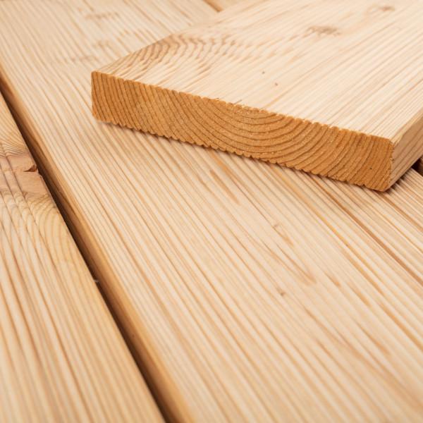 FANO Holz Terrassendiele Lärche sibirisch 27 mm, feingerillt