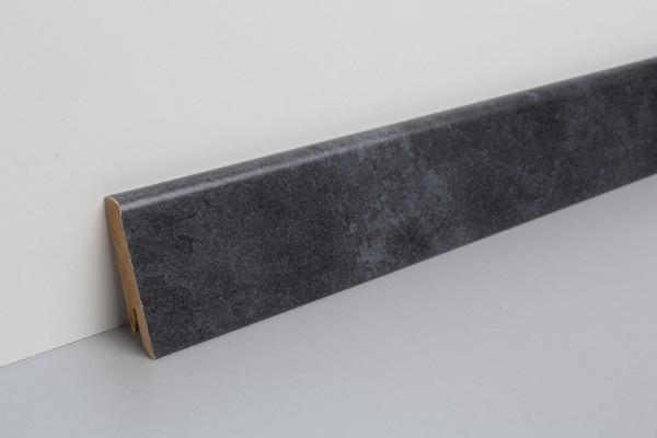Bodenleiste foliert MHL Cremento schwarz