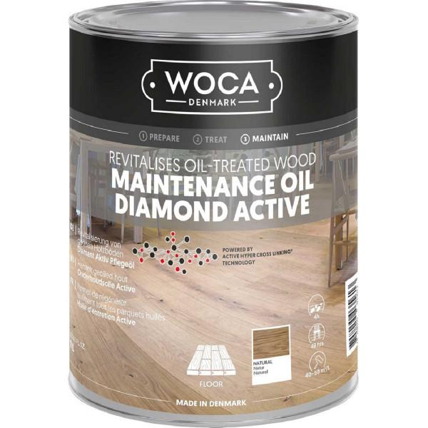 WOCA Diamant Aktiv Pflegeöl Natur, Inhalt: 1 Liter