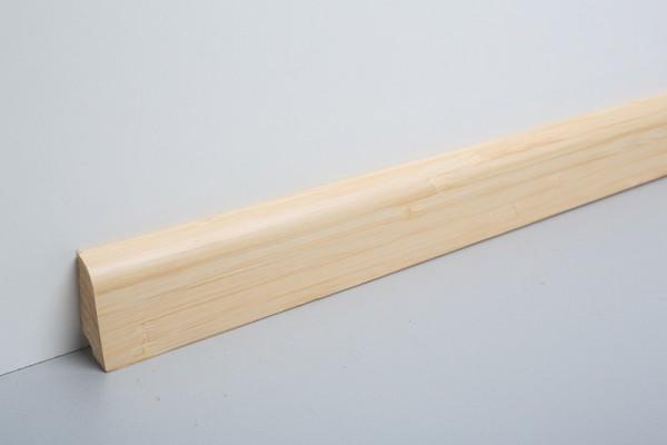 Bodenleiste furniert MHF 45 Bambus Light lackiert