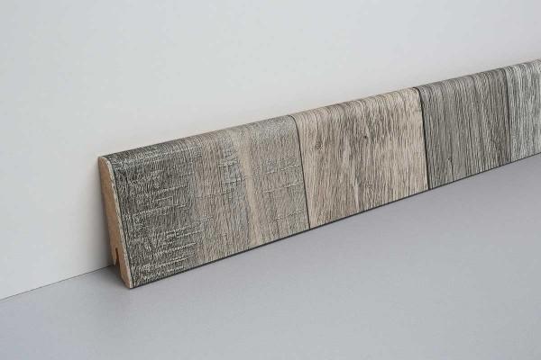 Laminat Sockelleiste foliert mit MDF-Kern Knoxville Eiche grau 17x60x2400mm