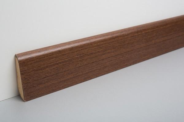 Sockelleiste furniert MHF 65 Wenge lackiert 20x60x2500mm