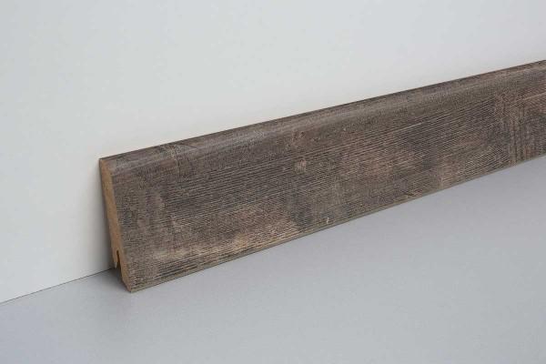 Laminat Sockelleiste foliert mit MDF-Kern Eiche alt grau 17x60x2400mm