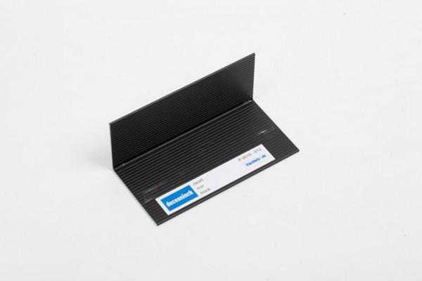L-Profil aus Aluminium schwarzmetallic