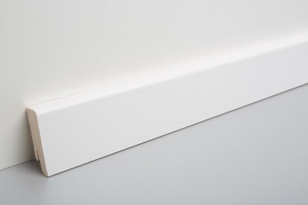 Bodenleiste furniert MHF 50, weiß deckend lackiert, RAL9003
