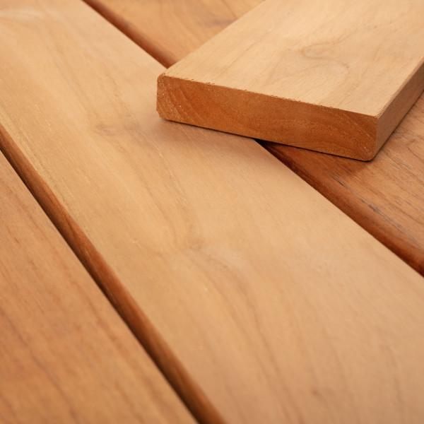 FANO Holz Terrassendiele Teak, glatt 1070 bis 2420 mm