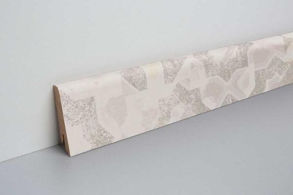 Laminat Sockelleiste foliert mit MDF-Kern Tarragone Stein 17x60x2400mm