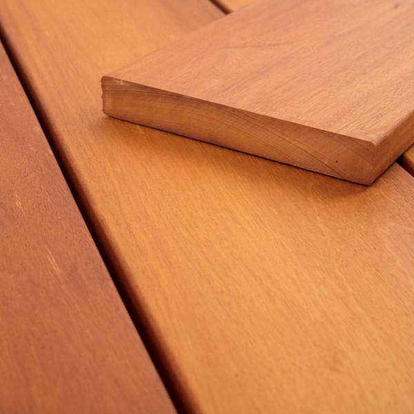FANO Holz Terrassendiele Bangkirai, Teak-farbgeoelt, glatt 2130 bis 4880 mm