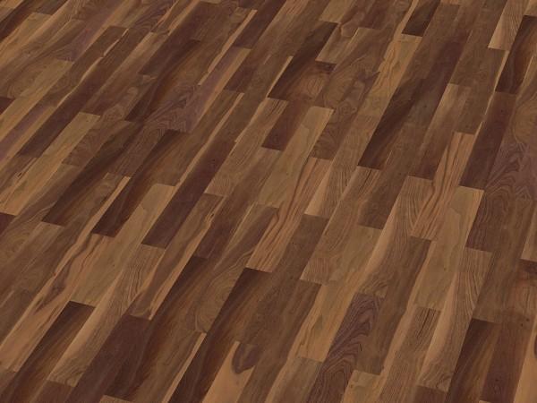 Wood Perfect Parkett 2-Schicht Riemen Nußbaum amer. Rustikal, lackiert