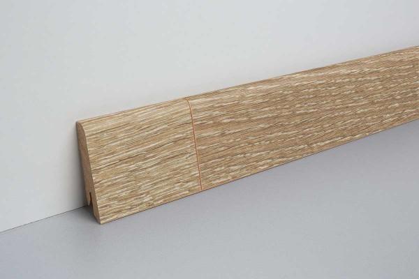 Laminat Sockelleiste foliert mit MDF-Kern Corton Eiche hell 17x60x2400mm