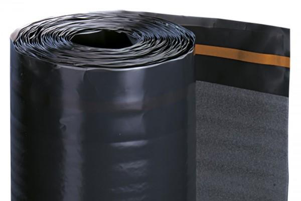 PE-Schaum-Unterlagsmatte Polyprotect plus, mit aufkaschierter PE-Folie, mit Selbstklebestreifen