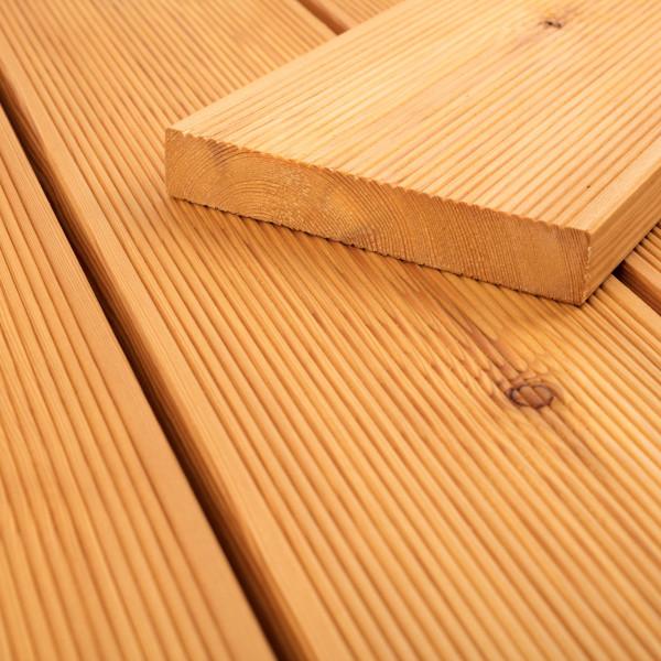 FANO Holz Terrassendiele Lärche sibirisch 24 mm, Lärche-farbgeoelt, feingerillt