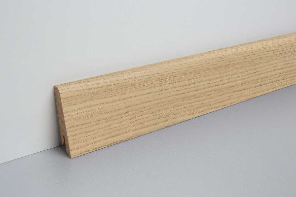 Laminat Sockelleiste foliert mit MDF-Kern Clifton Eiche natur 17x60x2400mm