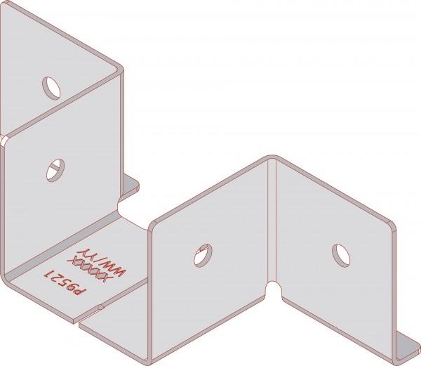Eckverbinder aus Edelstahl zum Rahmenbau