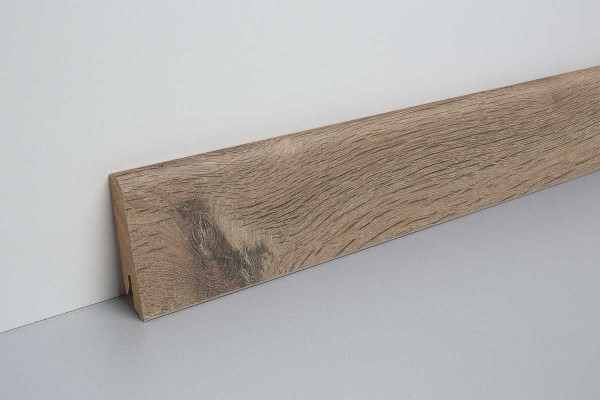 Laminat Bodenleiste foliert MDF-Kern Bayford Eiche grau