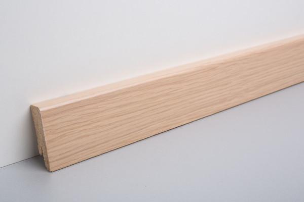 Sockelleiste furniert MKF 50 Eiche weiß lackiert 18x50x2500mm