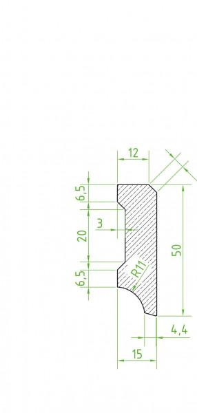 Sockelleiste massiv MKM 50 Buche geölt 15x50x2400/2700mm
