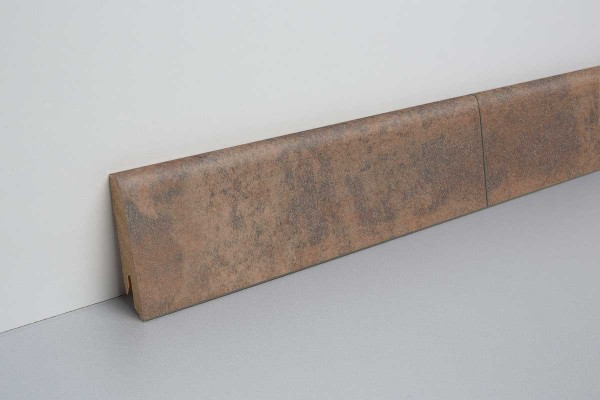 Laminat Bodenleiste foliert MDF-Kern Metall bronze