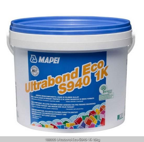 Mapei Ultrabond ECO S940 MS-Polymerkleber 15 kg, Verklebung von Mehrschichtparkett
