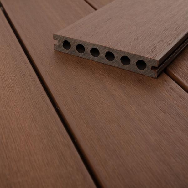 FANO WPC UltraShield 360 Terrassendiele Hohlkammer mit Schutzmantel Ipe, gebürstet