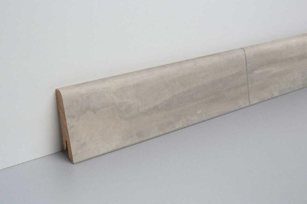 Laminat Sockelleiste foliert mit MDF-Kern Beton hellgrau 17x60x2400mm