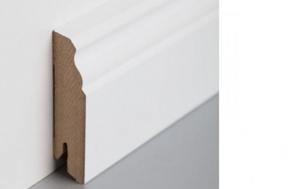 Sockelleiste foliert MDF 70 weiß überstreichbar 18x70x2400mm